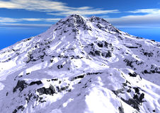 Snowy mountain Stock Image