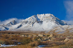 Snowy Mountain. On Clear Sunny Day royalty free stock photos