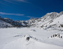 Snowy Mountain. Landscape with Blue Sky royalty free stock photo
