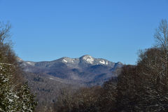 Snowy Mountain in the Adirondacks Stock Photos