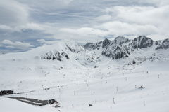 Snowy mountain in Andorra Stock Photography