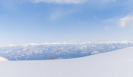 Snowy mountain. Of Central Japan Alps in winter Royalty Free Stock Photo