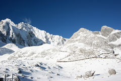 Snowy mountain in China Stock Photo