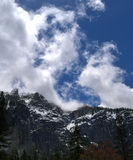 Snowy mountain with clouds Royalty Free Stock Image