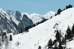 Snowy mountain in Donezan, Pyrenees royalty free stock photography
