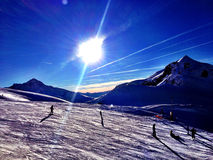 Snowy mountain - France Stock Image