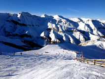 Snowy mountain - France Royalty Free Stock Photo
