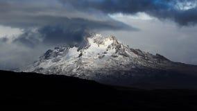 Snowy mountain. High snowy peak near Kilimanjaro mountain Stock Photography