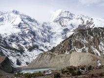 Snowy mountain and ice lake Royalty Free Stock Photos