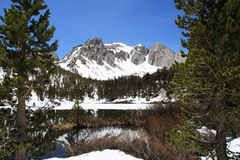 Snowy Mountain Lake Royalty Free Stock Photos