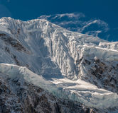 Snowy mountain landscape Stock Images