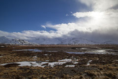 Snowy mountain landscape in Iceland Royalty Free Stock Photo