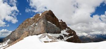 Snowy mountain landscape Stock Photo