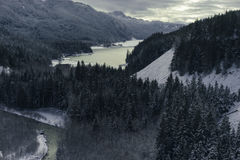 Snowy Mountain in Landscape View Royalty Free Stock Images