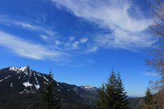 Snowy mountain landscape in Washington State Royalty Free Stock Photography