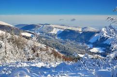 Snowy mountain landscape Royalty Free Stock Images
