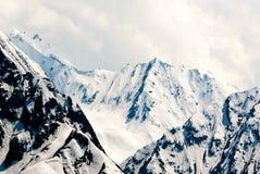 Snowy mountain stock photos