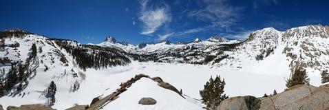 Snowy Mountain Panorama Stock Photos