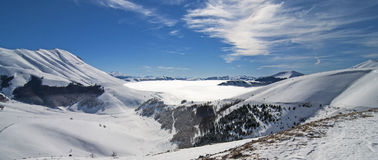 Snowy Mountain Panoramic Stock Photos