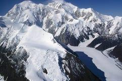 Snowy Mountain Peak. Isolated Snow Covered Mountain Peak of Mt. McKinley, Alaska Royalty Free Stock Photos