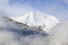 Snowy mountain peak Royalty Free Stock Photography