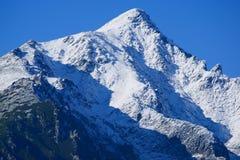 Snowy mountain peak. In the high Tatras mountains, slavkovsky štít in the Tatras, Slovakia, Europe Royalty Free Stock Images