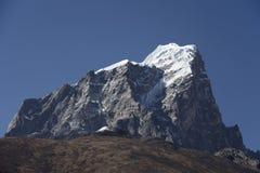 Snowy mountain peak. The snowy mountain peak in Khumbu of Nepal Stock Photos