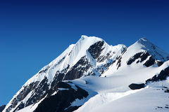 Snowy mountain peaks Royalty Free Stock Photo