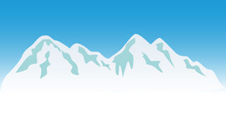 Snowy mountain peaks stock illustration