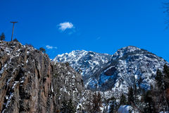 Snowy mountain peaks Royalty Free Stock Image