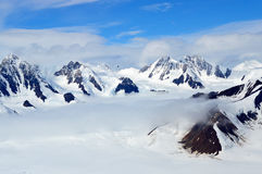 Free Snowy Mountain Peaks In The Clouds, Kluane National Park, Yukon 02 Royalty Free Stock Image - 63691186