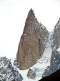 snowy mountain peaks surround prestine Hunza Valley, Karakoram Highway, Pakistan royalty free stock image