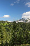 Snowy mountain peaks Royalty Free Stock Photos