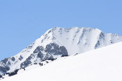 Snowy mountain in Pyrenees royalty free stock photo