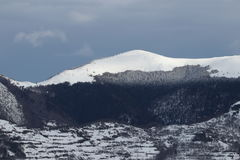 Snowy mountain in Pyrenees Royalty Free Stock Photography