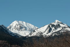 Snowy mountain in Pyrenees Stock Photos