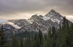 Stormy Skies over Mountain Rae in Kananaskis Country Alberta Stock Photos