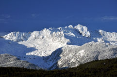 Snowy mountain range Stock Image