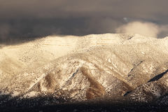 Snowy Mountain Range. Snowy Manzano mountain range in New Mexico Stock Photos