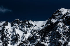 Snowy mountain range Royalty Free Stock Photography