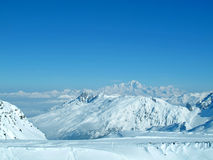 Snowy mountain range French Alpes Stock Photography