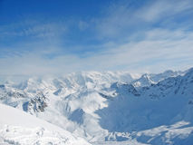 Snowy mountain range French Alpes Stock Images
