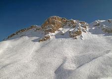 Snowy mountain range French Alpes Royalty Free Stock Image