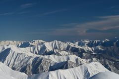 Snowy mountain range Stock Photo
