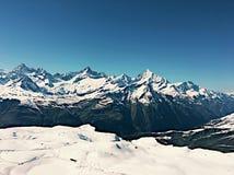 Swiss Alps landscape. Snowy mountain range stock image