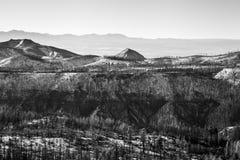 Snowy Mountain Range Vista Stock Image