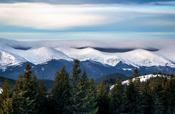 Snowy mountain range Royalty Free Stock Images