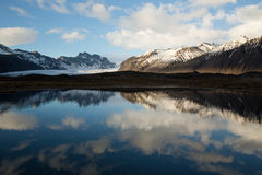 Snowy Mountain Reflection Royalty Free Stock Photos