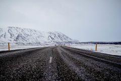 Snowy Mountain Road Stock Images