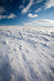 Snowy mountain scenery Royalty Free Stock Images